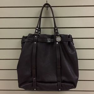 Lanvin large brown genuine leather tote.